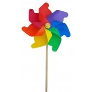 Moulin à vent éolienne multicolore 21 cm