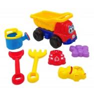 Camion de chantier 25 cm et ses accessoires de plage