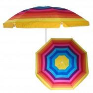 Parasol de plage anti UV 50+ Arc en ciel 200 cm