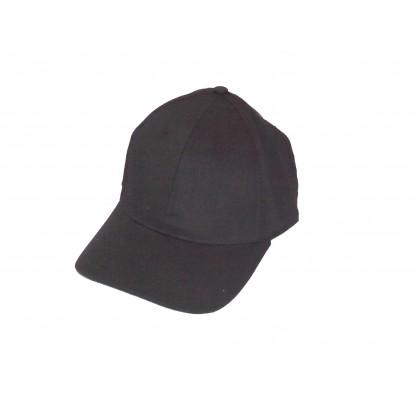 Casquette adulte unie noire