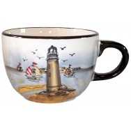 Tasse Jumbo phare marron