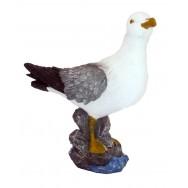 Statue mouette 29 cm sur rocher