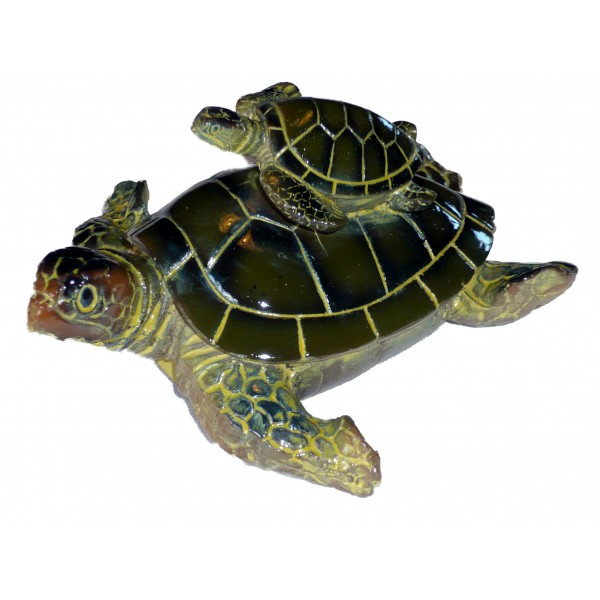Tortue de mer et son petit d coration marine d co mer for Tortue decoration