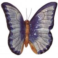 Papillon céramique 17 cm bleu - décoration de jardin
