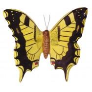 Papillon céramique 23 cm jaune et noir, décoration murale