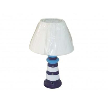 Lampe phare en céramique 31 cm bleue ou blanche
