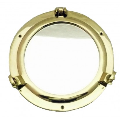 Miroir hublot 20 cm en laiton - Décoration marine