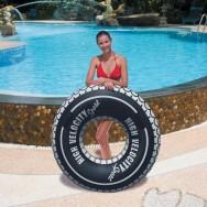 Bouée pneu 119 cm, article de plage pas cher
