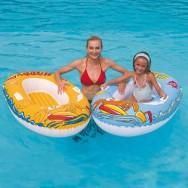 Bateau gonflable 137 cm - Jouet de plage et piscine