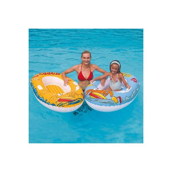 Bateau gonflable pneumatique 137 cm achat vente jouet for Achat piscine gonflable pas cher