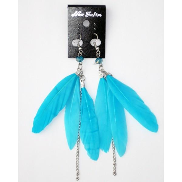boucles d 39 oreilles plumes petit prix achat vente. Black Bedroom Furniture Sets. Home Design Ideas