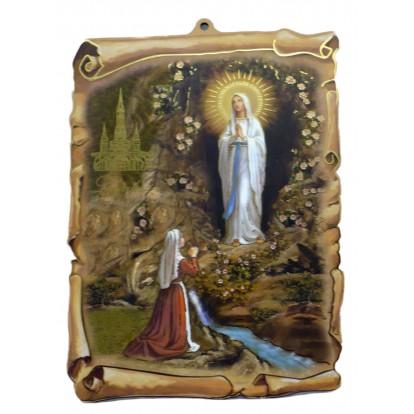 Cadre religieux parchemin, immaculée conception.