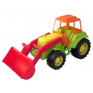 Tractopelle, tracteur en plastique 45 cm, jeux et jouets garçons