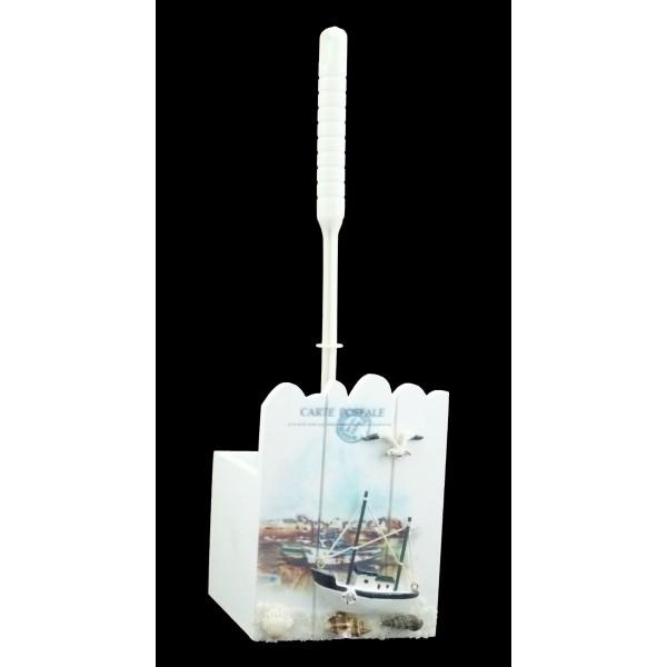 brosse wc paysage marin achat vente accessoires toilettes pas cher. Black Bedroom Furniture Sets. Home Design Ideas