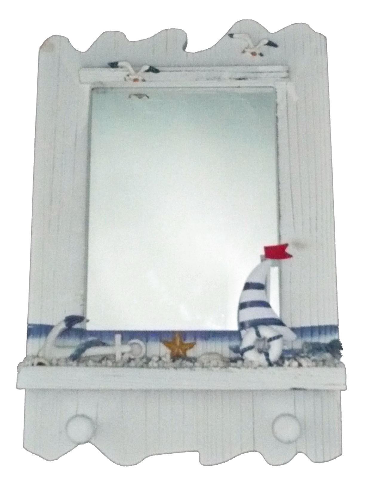 miroir style marin avec voilier - achat/vente décoration marine pas cher