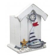 Pot à crayons cabine de plage et voilier