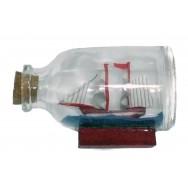 Maquette voilier dans une bouteille en verre 6.5 cm, décoration marine pas cher.