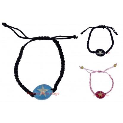 Bracelet avec véritable étoile de mer