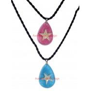 Pendentif, collier avec véritable étoile de mer