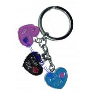 Porte clefs charms coeur kiss me - St Valentin.