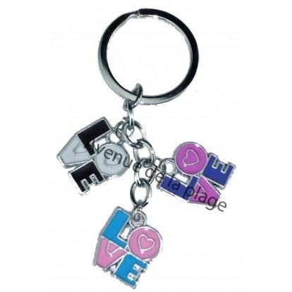 """Porte clefs charms """"Love"""" - Idée cadeau St Valentin - Modèle B."""