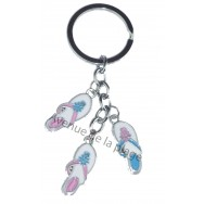"Porte clefs charms ""Tongs - Tongues"""