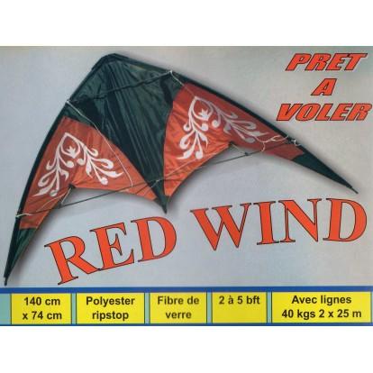 Cerf-volant 2 lignes Red Wind 140 cm.