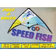 Cerf-volant acrobatique Speed Fish 120 cm