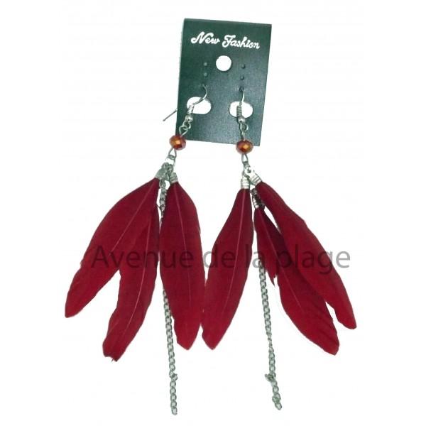 boucles d 39 oreilles plumes petit prix achat vente boucle d 39 oreille pas cher. Black Bedroom Furniture Sets. Home Design Ideas