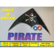 Cerf-volant acrobatique Pirate 140 cm
