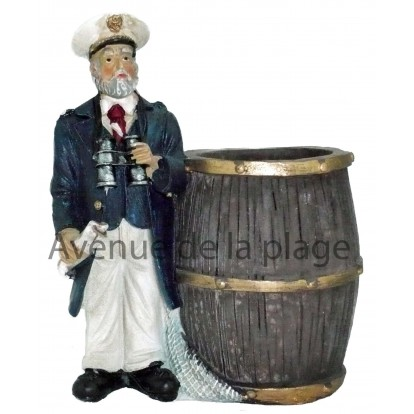 Pot à crayons marin, capitaine. Décoration bord de mer.