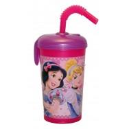 Verre avec paille Disney Princesses + prénom