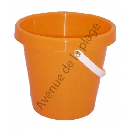 Seau de plage 22 cm orange, Made in France.