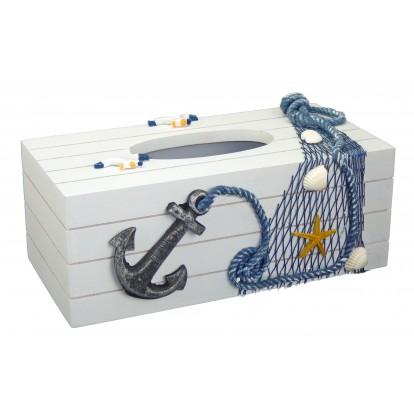 Boîte à mouchoirs ancre pour salle de bain.