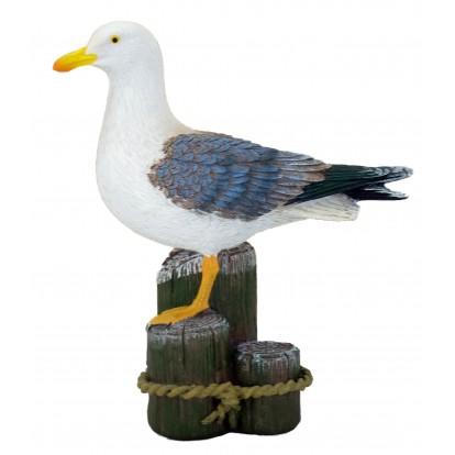 Statuette mouette sur piquets d'amarrage 20 cm
