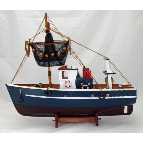 maquette bateau p che 45 cm pas cher chalutier avenue de la plage. Black Bedroom Furniture Sets. Home Design Ideas