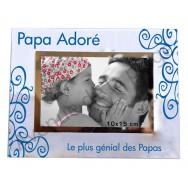 """Cadre photo """"Papa Adoré, Le plus génial des Papas"""""""