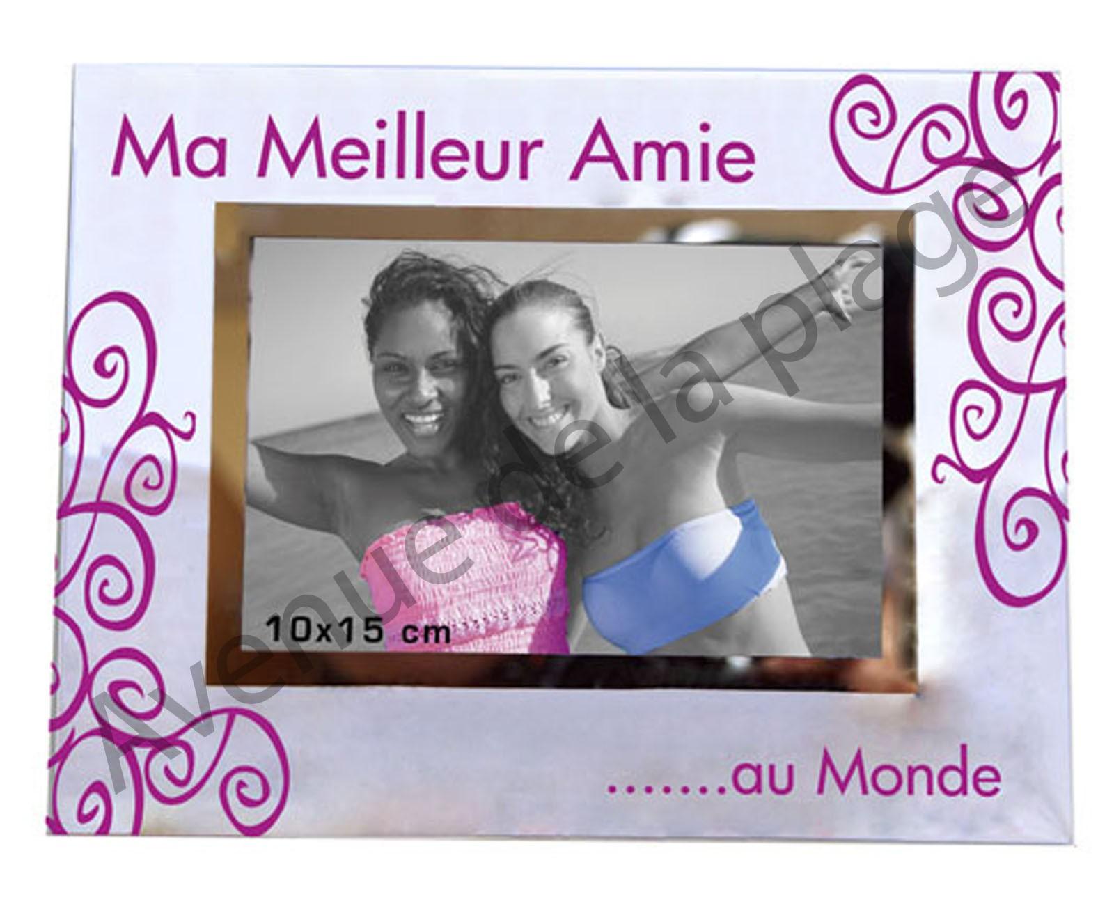 """Image Pour Ma Meilleure Amie destiné cadre photo """"ma meilleure amie au monde"""" - avenue de la plage"""
