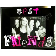 "Cadre photo en verre ""Best Friends"""