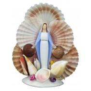 Statuette Sainte Vierge en coquillages