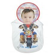 Bavoir bébé humoristique Motard, un vrais Biker.