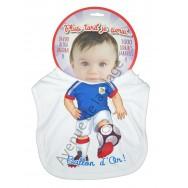 Bavoir bébé humoristique Footballeur, futur ballon d'or.