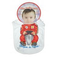 Bavoir bébé humoristique Pilote de F1, champion du monde.