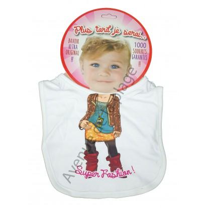 Bavoir bébé humoristique Super Fashion !