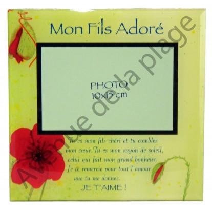 """Cadre photo message """"Mon Fils Adoré"""""""
