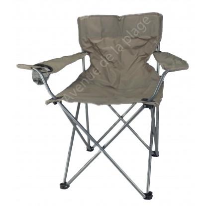 Siège de plage, chaise de camping pliable, gris.