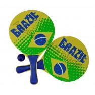 Raquette de plage drapeau du Brésil