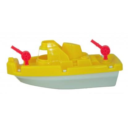 Bateau en plastique jaune - Jouet pour le bain pas cher.