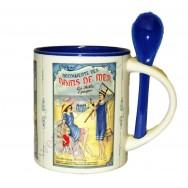 Mug avec cuillère affiches anciennes : Bains de Mer