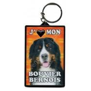 Porte clé 3D J'aime mon Bouvier Bernois